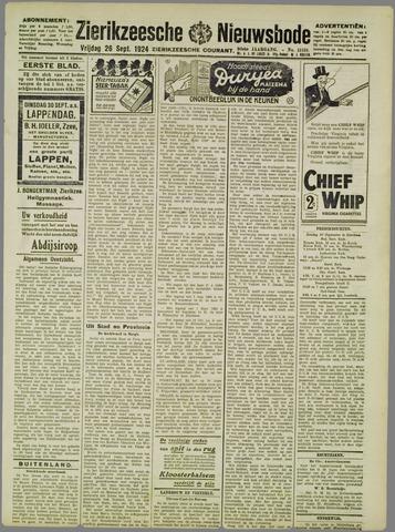 Zierikzeesche Nieuwsbode 1924-09-26