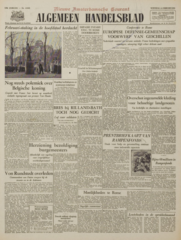 Watersnood documentatie 1953 - kranten 1953-02-25