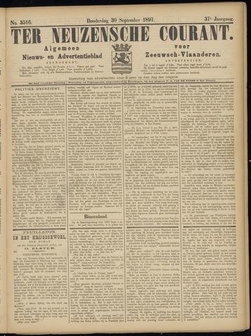 Ter Neuzensche Courant. Algemeen Nieuws- en Advertentieblad voor Zeeuwsch-Vlaanderen / Neuzensche Courant ... (idem) / (Algemeen) nieuws en advertentieblad voor Zeeuwsch-Vlaanderen 1897-09-30