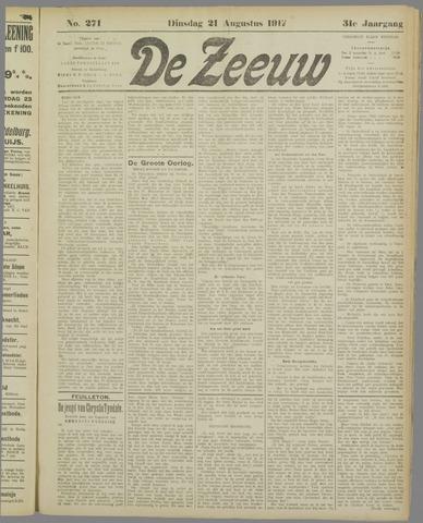 De Zeeuw. Christelijk-historisch nieuwsblad voor Zeeland 1917-08-21