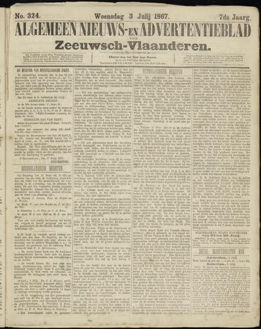 Ter Neuzensche Courant. Algemeen Nieuws- en Advertentieblad voor Zeeuwsch-Vlaanderen / Neuzensche Courant ... (idem) / (Algemeen) nieuws en advertentieblad voor Zeeuwsch-Vlaanderen 1867-07-03