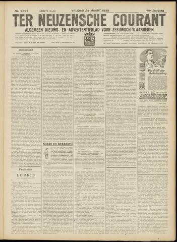 Ter Neuzensche Courant. Algemeen Nieuws- en Advertentieblad voor Zeeuwsch-Vlaanderen / Neuzensche Courant ... (idem) / (Algemeen) nieuws en advertentieblad voor Zeeuwsch-Vlaanderen 1939-03-24