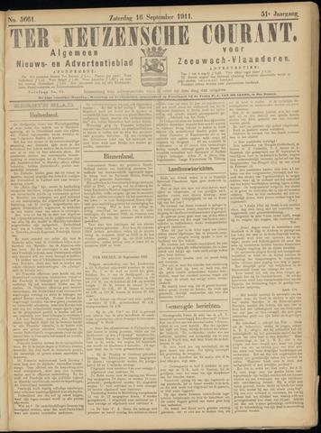 Ter Neuzensche Courant. Algemeen Nieuws- en Advertentieblad voor Zeeuwsch-Vlaanderen / Neuzensche Courant ... (idem) / (Algemeen) nieuws en advertentieblad voor Zeeuwsch-Vlaanderen 1911-09-16