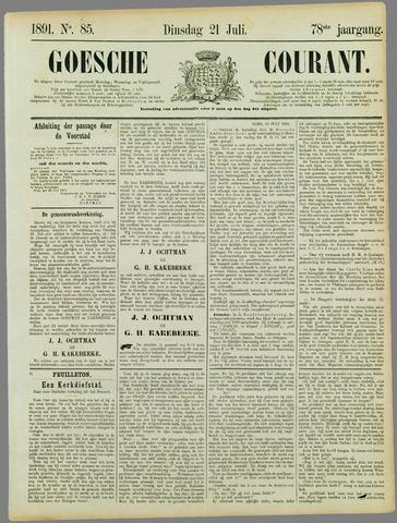 Goessche Courant 1891-07-21