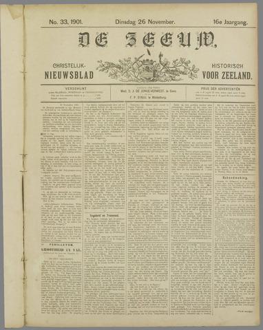 De Zeeuw. Christelijk-historisch nieuwsblad voor Zeeland 1901-11-26