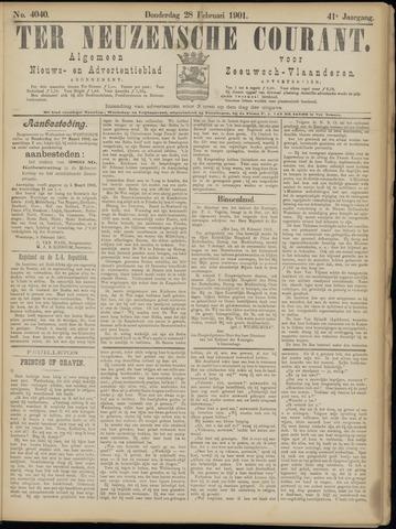 Ter Neuzensche Courant. Algemeen Nieuws- en Advertentieblad voor Zeeuwsch-Vlaanderen / Neuzensche Courant ... (idem) / (Algemeen) nieuws en advertentieblad voor Zeeuwsch-Vlaanderen 1901-02-28