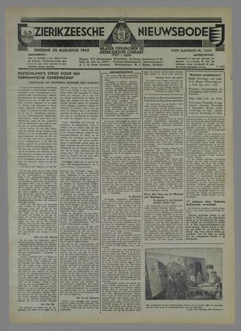 Zierikzeesche Nieuwsbode 1942-08-25