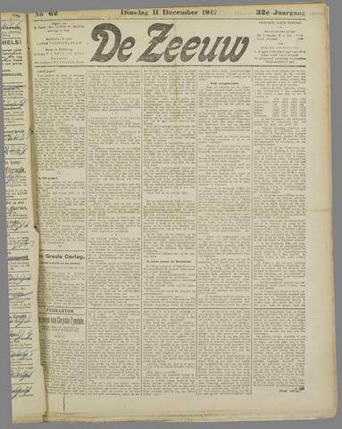 De Zeeuw. Christelijk-historisch nieuwsblad voor Zeeland 1917-12-11