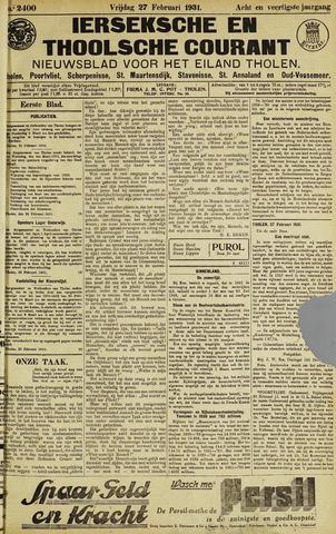 Ierseksche en Thoolsche Courant 1931-02-27