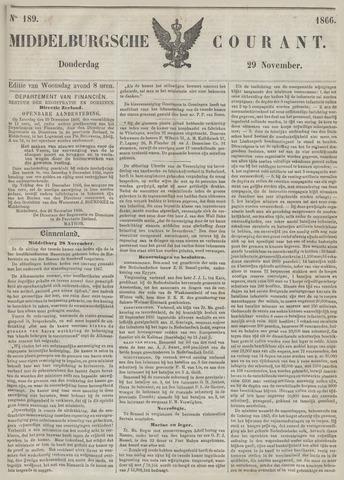 Middelburgsche Courant 1866-11-29