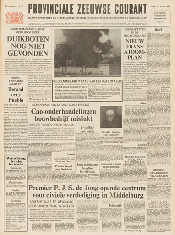 Provinciale Zeeuwse Courant 1968-01-30