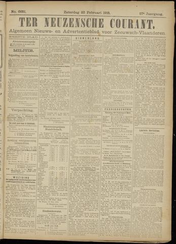 Ter Neuzensche Courant. Algemeen Nieuws- en Advertentieblad voor Zeeuwsch-Vlaanderen / Neuzensche Courant ... (idem) / (Algemeen) nieuws en advertentieblad voor Zeeuwsch-Vlaanderen 1918-02-23
