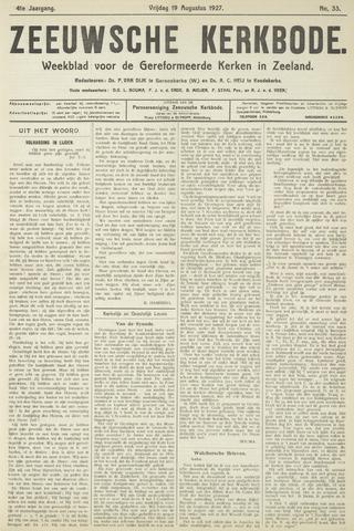 Zeeuwsche kerkbode, weekblad gewijd aan de belangen der gereformeerde kerken/ Zeeuwsch kerkblad 1927-08-19