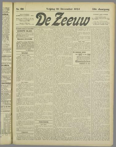 De Zeeuw. Christelijk-historisch nieuwsblad voor Zeeland 1924-12-19