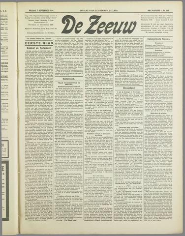 De Zeeuw. Christelijk-historisch nieuwsblad voor Zeeland 1934-09-07
