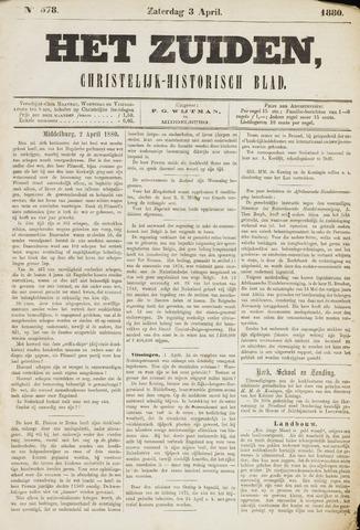 Het Zuiden, Christelijk-historisch blad 1880-04-01