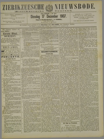 Zierikzeesche Nieuwsbode 1907-12-17