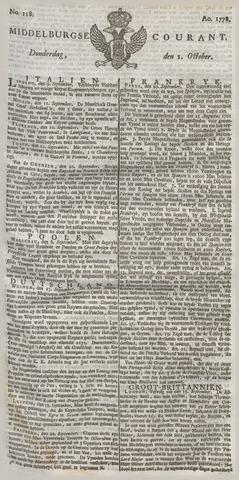 Middelburgsche Courant 1778-10-01