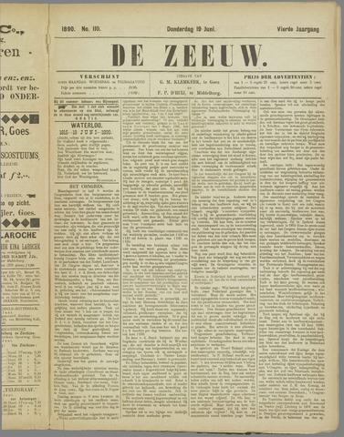 De Zeeuw. Christelijk-historisch nieuwsblad voor Zeeland 1890-06-19