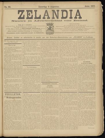Zelandia. Nieuws-en advertentieblad voor Zeeland | edities: Het Land van Hulst en De Vier Ambachten 1902-08-09