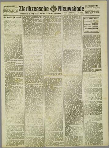 Zierikzeesche Nieuwsbode 1924-08-06