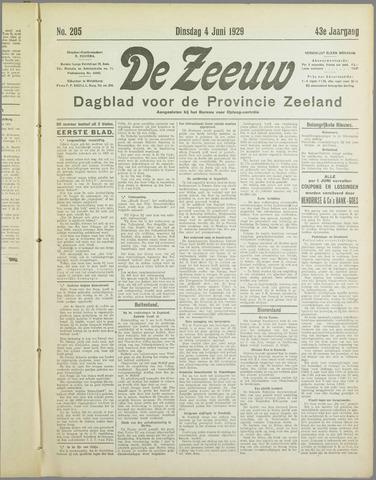 De Zeeuw. Christelijk-historisch nieuwsblad voor Zeeland 1929-06-04