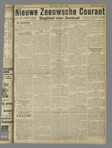 Nieuwe Zeeuwsche Courant 1920-04-21