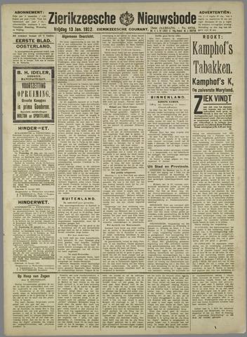 Zierikzeesche Nieuwsbode 1922-01-13
