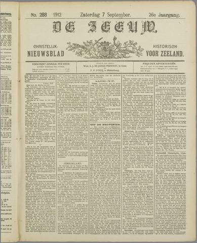 De Zeeuw. Christelijk-historisch nieuwsblad voor Zeeland 1912-09-07