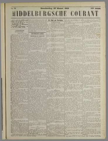 Middelburgsche Courant 1919-03-27