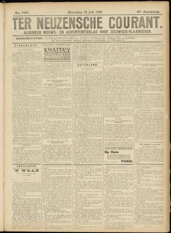 Ter Neuzensche Courant. Algemeen Nieuws- en Advertentieblad voor Zeeuwsch-Vlaanderen / Neuzensche Courant ... (idem) / (Algemeen) nieuws en advertentieblad voor Zeeuwsch-Vlaanderen 1926-07-12