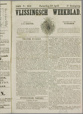 Vlissings Weekblad 1867-04-20