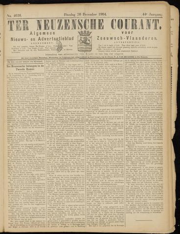 Ter Neuzensche Courant. Algemeen Nieuws- en Advertentieblad voor Zeeuwsch-Vlaanderen / Neuzensche Courant ... (idem) / (Algemeen) nieuws en advertentieblad voor Zeeuwsch-Vlaanderen 1904-12-20