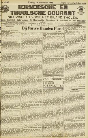 Ierseksche en Thoolsche Courant 1932-11-18