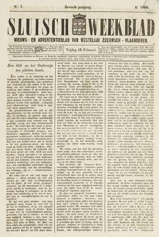 Sluisch Weekblad. Nieuws- en advertentieblad voor Westelijk Zeeuwsch-Vlaanderen 1866-02-16