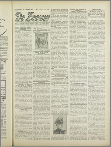 De Zeeuw. Christelijk-historisch nieuwsblad voor Zeeland 1943-03-15