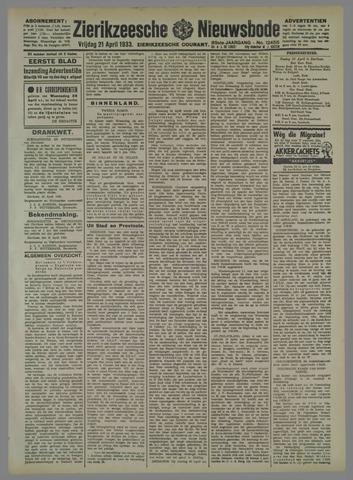 Zierikzeesche Nieuwsbode 1933-04-21