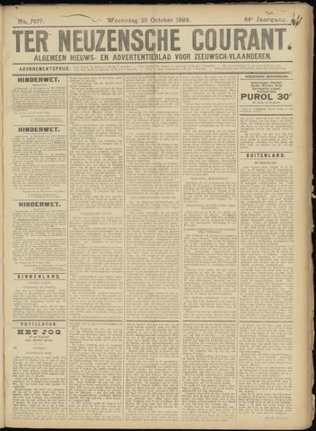 Ter Neuzensche Courant. Algemeen Nieuws- en Advertentieblad voor Zeeuwsch-Vlaanderen / Neuzensche Courant ... (idem) / (Algemeen) nieuws en advertentieblad voor Zeeuwsch-Vlaanderen 1924-10-29
