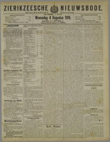 Zierikzeesche Nieuwsbode 1915-08-04
