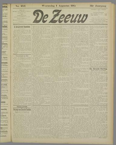De Zeeuw. Christelijk-historisch nieuwsblad voor Zeeland 1917-08-01