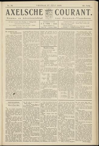 Axelsche Courant 1928-07-27