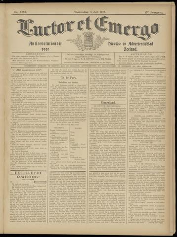 Luctor et Emergo. Antirevolutionair nieuws- en advertentieblad voor Zeeland / Zeeuwsch-Vlaanderen. Orgaan ter verspreiding van de christelijke beginselen in Zeeuwsch-Vlaanderen 1917-07-04