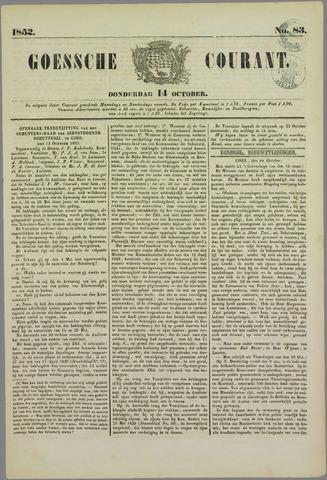 Goessche Courant 1852-10-14