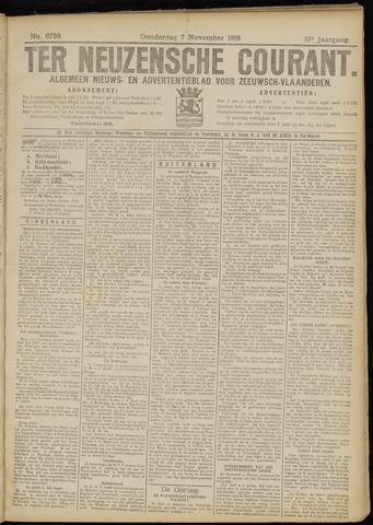 Ter Neuzensche Courant. Algemeen Nieuws- en Advertentieblad voor Zeeuwsch-Vlaanderen / Neuzensche Courant ... (idem) / (Algemeen) nieuws en advertentieblad voor Zeeuwsch-Vlaanderen 1918-11-07