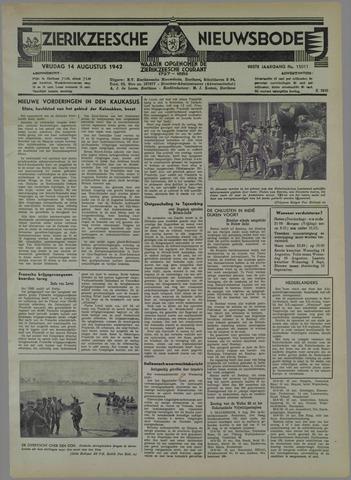 Zierikzeesche Nieuwsbode 1942-08-14