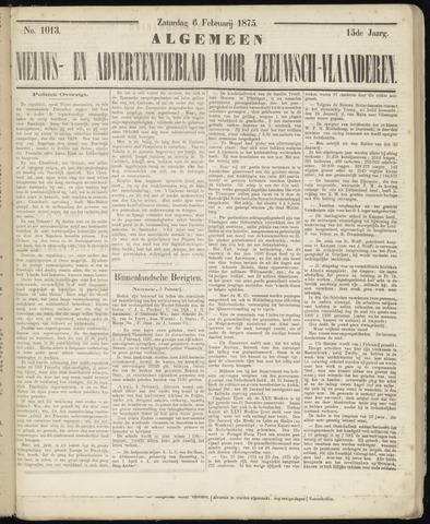 Ter Neuzensche Courant. Algemeen Nieuws- en Advertentieblad voor Zeeuwsch-Vlaanderen / Neuzensche Courant ... (idem) / (Algemeen) nieuws en advertentieblad voor Zeeuwsch-Vlaanderen 1875-02-06