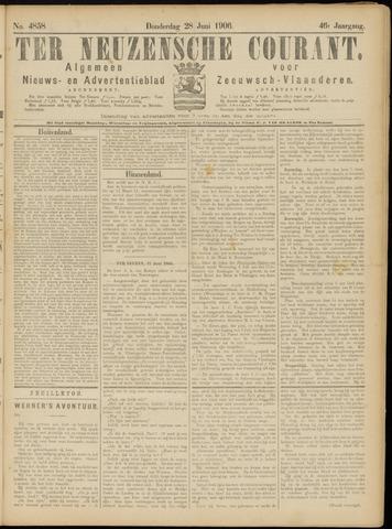 Ter Neuzensche Courant. Algemeen Nieuws- en Advertentieblad voor Zeeuwsch-Vlaanderen / Neuzensche Courant ... (idem) / (Algemeen) nieuws en advertentieblad voor Zeeuwsch-Vlaanderen 1906-06-28