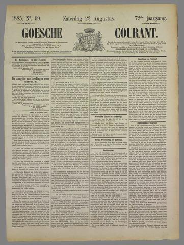 Goessche Courant 1885-08-22