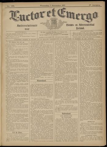 Luctor et Emergo. Antirevolutionair nieuws- en advertentieblad voor Zeeland / Zeeuwsch-Vlaanderen. Orgaan ter verspreiding van de christelijke beginselen in Zeeuwsch-Vlaanderen 1917-11-07