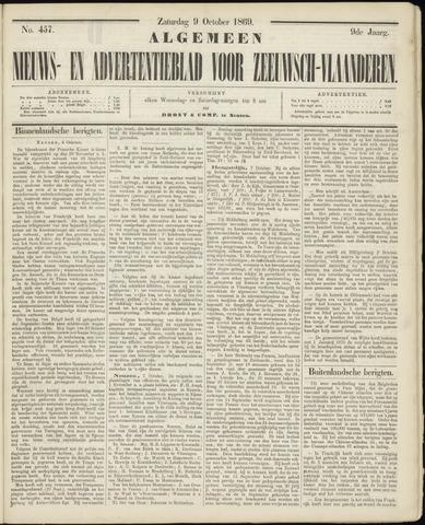 Ter Neuzensche Courant. Algemeen Nieuws- en Advertentieblad voor Zeeuwsch-Vlaanderen / Neuzensche Courant ... (idem) / (Algemeen) nieuws en advertentieblad voor Zeeuwsch-Vlaanderen 1869-10-09
